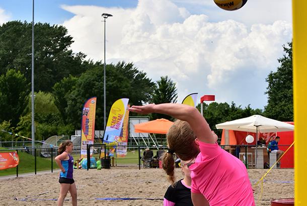 Beach center volleybal